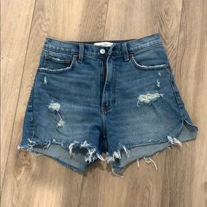 "Abercrombie High Rise 4"" Shorts"